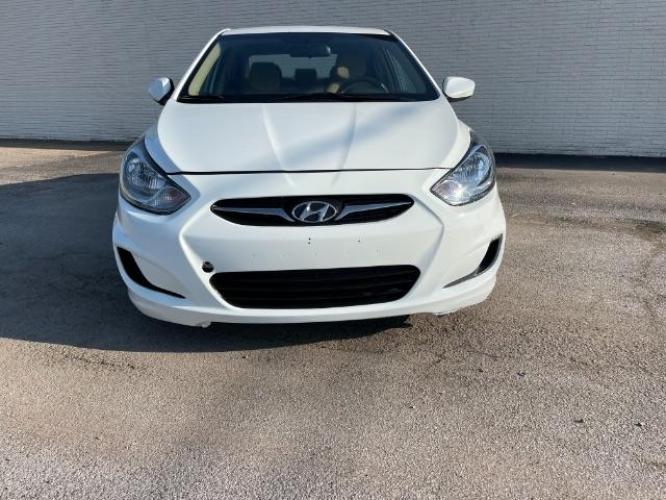 2013 Century White Hyundai Accent GLS 4-Door (KMHCT4AE7DU) with an 1.6L L4 DOHC 16V engine, located at 11700 Garland Rd., Dallas, TX, 75218, (214) 321-6450, 32.852482, -96.678986 - Photo #0