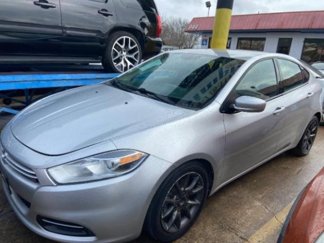 2013 Bright Silver Metall Dodge Dart SE (1C3CDFAH7DD) with an 1.4L L4 DOHC 16V TUR engine, located at 11700 Garland Rd., Dallas, TX, 75218, (214) 321-6450, 32.852482, -96.678986 - Photo #0