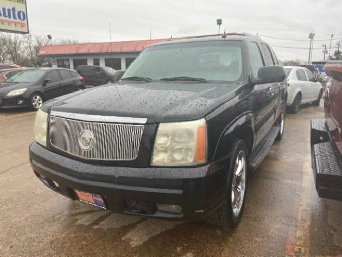 2003 Sable Black /Pewter Leather Inter Cadillac Escalade EXT Sport Utility Truck (3GYEK63N93G) with an 6.0L V8 OHV 16V engine, 4-Speed Automatic transmission, located at 11700 Garland Rd., Dallas, TX, 75218, (214) 321-6450, 32.852482, -96.678986 - Photo #0