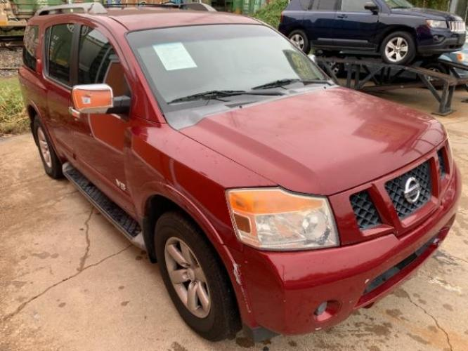 2008 Red Brawn /Almond Cloth Interio Nissan Armada SE 2WD (5N1BA08D78N) with an 5.6L V8 DOHC 32V FFV engine, 5-Speed Automatic Ov transmission, located at 11700 Garland Rd., Dallas, TX, 75218, (214) 321-6450, 32.852482, -96.678986 - Photo #8